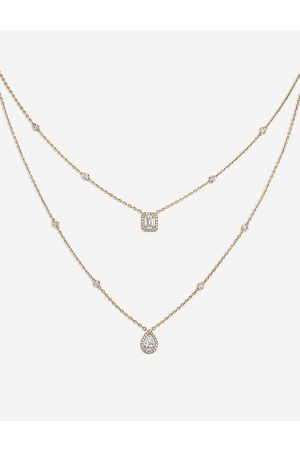 MESSIKA Womens My Twin 18ct -gold and Diamond Necklace