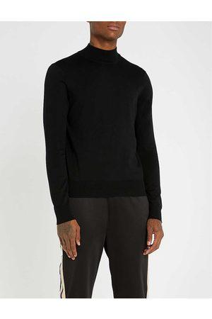 Sandro Mens Turtleneck Wool Jumper XL