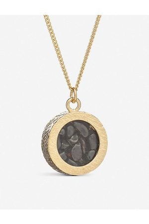 Rachel Jackson Womens 22 Carat Plated Birthstone Amulet January 22ct -plated Sterling Silver and Garnet Necklace 1SIZE