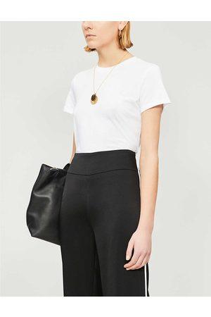 Vince Womens Optic Essential Round-neck Pima Cotton T-shirt XS