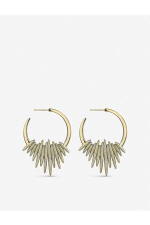 SHAUN LEANE Womens Vermeil Quill Hoop -vermeil Earrings