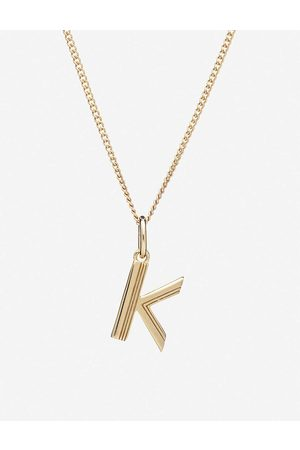 Rachel Jackson Womens 22 Carat Plated Art Deco Initial -plated Sterling Silver Necklace 1SIZE
