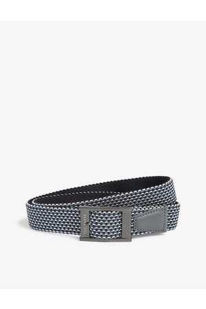 Ted Baker Mens Navy Columm Woven and Leather Reversible Belt M