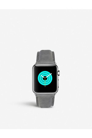 Mintapple Mens Apple Watch Stainless Steel and Suede Strap 42mm/44mm