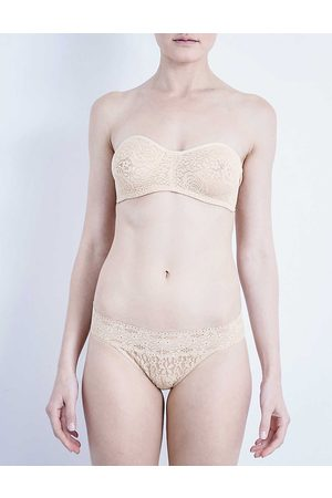Wacoal Naturally Nude Floral Halo Stretch-Lace Strapless Bra