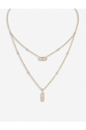 MESSIKA Womens Move 18ct Rose- and Diamond Necklace
