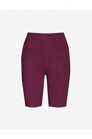 GIRLFRIEND COLLECTIVE Womens Plum High-rise Stretch-recycled Polyester Shorts XXS