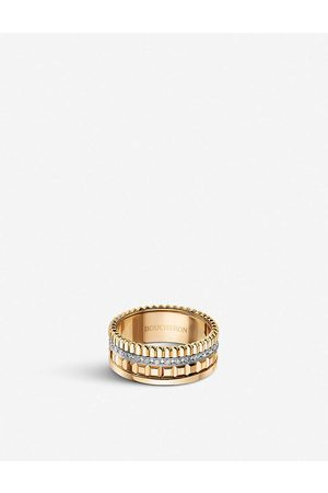 Boucheron Womens Quatre Radiant Edition -gold and 0.25ct Diamond Ring 48mm