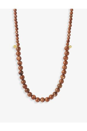The Alkemistry Womens Cinta 18ct Yellow-gold and Goldstone Beaded Necklace 1SIZE