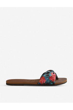 Havaianas Womens You Saint Tropez rus You Saint Tropez Floral-print Sandals 1/2