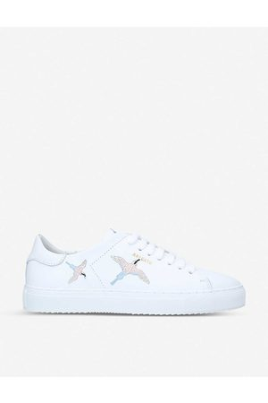 Axel Arigato Womens /oth Clean 90 Bird-embroidered Leather Trainers EUR 36 / 3 UK Women