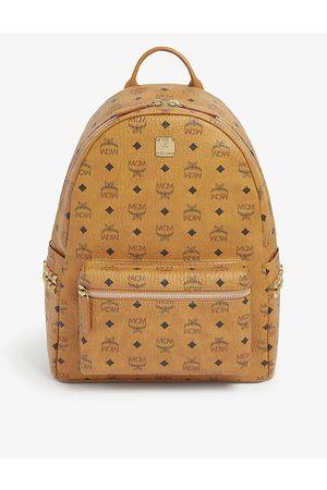 MCM Women's Cognac Stark Medium Backpack