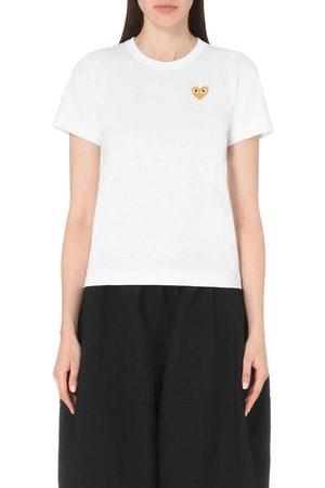 Comme des Garçons Play Women's Embroidered-Heart Cotton-Jersey T-Shirt