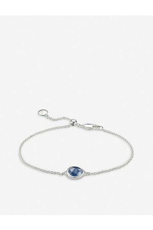 Monica Vinader Womens Siren Kyanite Gemstone Sterling Silver Bracelet