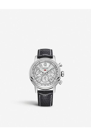 Chopard Mens and 1685893012 Mille Miglia Stainless Steel and Leather Watch