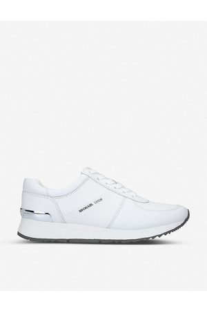 Michael Kors Womens Allie Panelled Leather Trainers 3