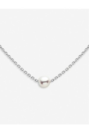 The Alkemistry Womens Redline 18ct - and Pearl Chain Necklace