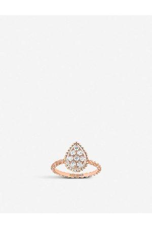 Boucheron Womens Serpent Bohème 18ct Rose-gold and 0.15ct Diamond Ring 49mm