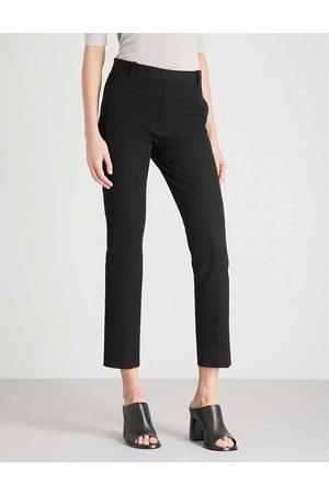 Joseph Womens Zoom Cropped Stretch-gabardine Trousers 10
