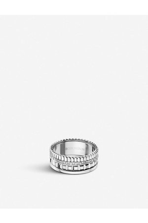 Boucheron Womens Quatre Radiant Edition White-gold and 0.24ct Diamond Ring 47mm