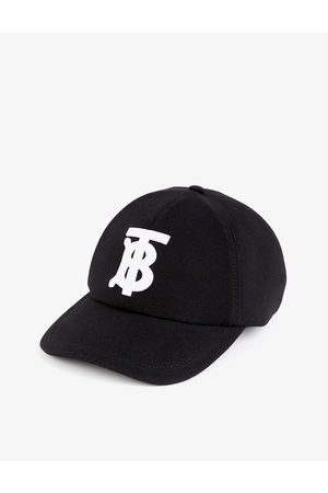 Burberry Mens Brand-embroidered Cotton Baseball cap S