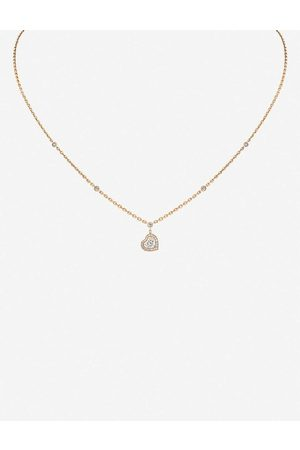 MESSIKA Womens Joy Coeur 18ct Rose- and Diamond Necklace