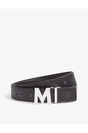 MCM Men Belts - Claus M Visetos and leather reversible belt