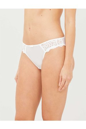 Maison Lejaby Womens Gaby Lace and Satin Briefs S