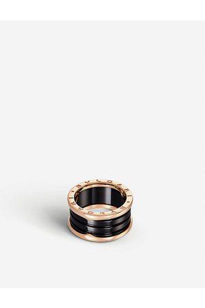 Bvlgari B.zero1 18kt pink- and -ceramic ring