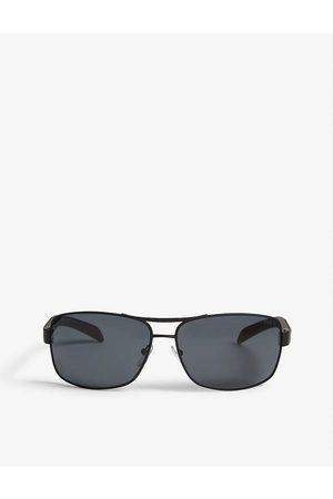 Prada Linea Rossa Men Sunglasses - Mens PS54I Rectangle-frame Sunglasses
