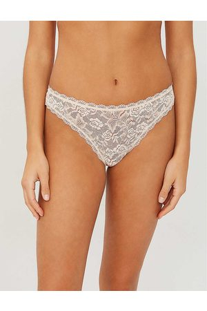 Aubade Womens Nude Dete Rosessence Lace Thong XS