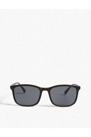 Prada Linea Rossa Mens PS01T Square-frame Havana Sunglasses