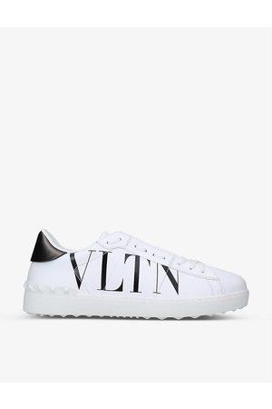 VALENTINO GARAVANI Mens /blk Vltn Rockstud Leather Low-top Trainers 5