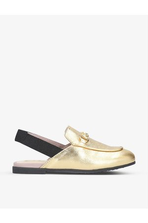 Gucci Boys Kids Princetown Metallic Leather Slingback Loafers 1-4 Years EUR 24 / 7 UK Kids