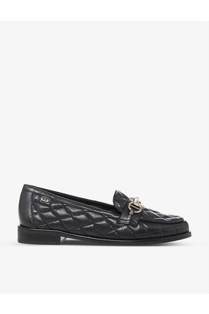 Dune Womens -leather Games Quilted Leather Loafers EUR 36 / 3 UK Women