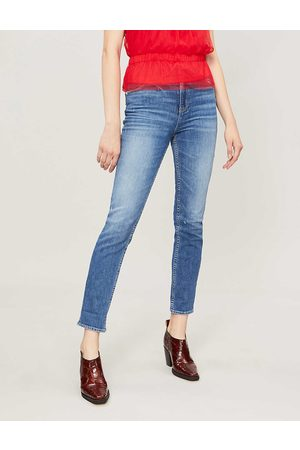 Paige Ladies Cotton Sarah Faded Skinny Mid-Rise Jeans