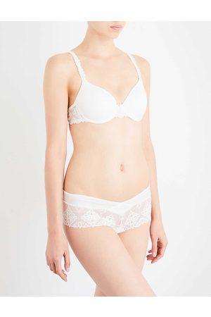 Chantelle Womens Ivory (Cream) Champs Elysées Stretch-mesh Balconette bra 32B