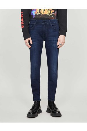 7 for all Mankind Mens Cotton Ronnie Luxe Performance Plus Skinny Tapered Jeans