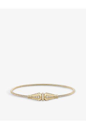 Boucheron Womens Jack de Single 18ct Yellow- and 1.04ct Round Diamond Bracelet 16cm