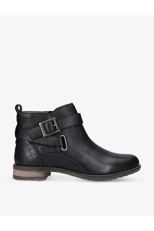 Barbour Womens Jane Buckle-embellished Leather Ankle Boots EUR 36 / 3 UK Women
