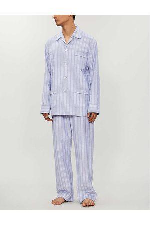 DEREK ROSE Mens Stripes Arran Cotton Pyjama Set