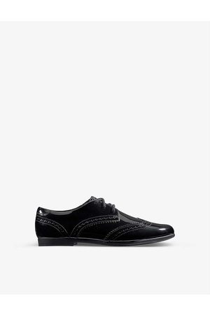Clarks Boys Pat Kids Scala Lace Kid Patent-leather Derby Brogues 7-9 Years 1F