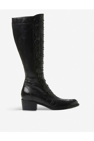 Dune Women's -Leather Pixie D Leather Knee-High Boots