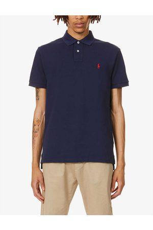 Polo Ralph Lauren Mens Newport Navy Logo-embroidered Cotton-piqué Polo Shirt S