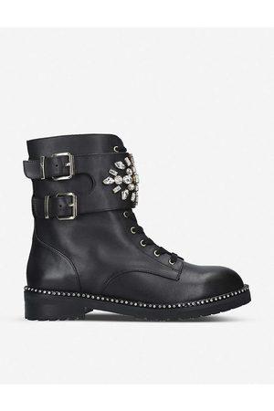Kurt Geiger Womens Stoop Leather Biker Boots EUR 42/ 9 UK Women