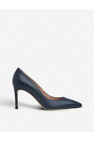 LK Bennett Womens Blu-navy Floret Leather Court Shoes EUR 35 / 2 UK Women