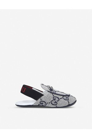 Gucci Navy Baby Princetown Leather Slippers 0-6 Months 16