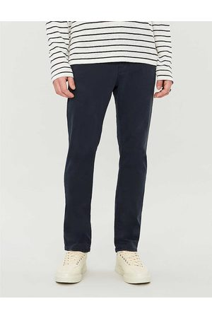 Nudie Jeans Mens Dk Midnight Slim Adam Slim-fit Tapered Stretch-cotton Chinos 28/32