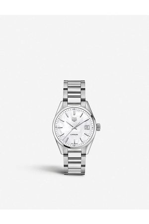 Tag Heuer Mens Mop WBK1311.BA0652 Carrera Stainless Steel and Mother-of-pearl Watch