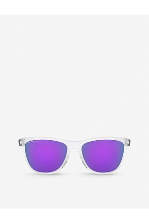 Oakley Mens Clear OO9013 Frogskins O Matter™ Plutonite Square-frame Sunglasses